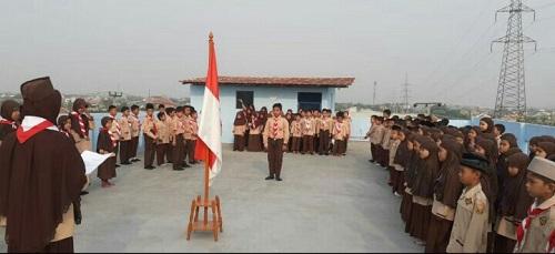 Upacara Peringatan HUT Pramuka ke-58 SDIT Wirausaha Indonesia
