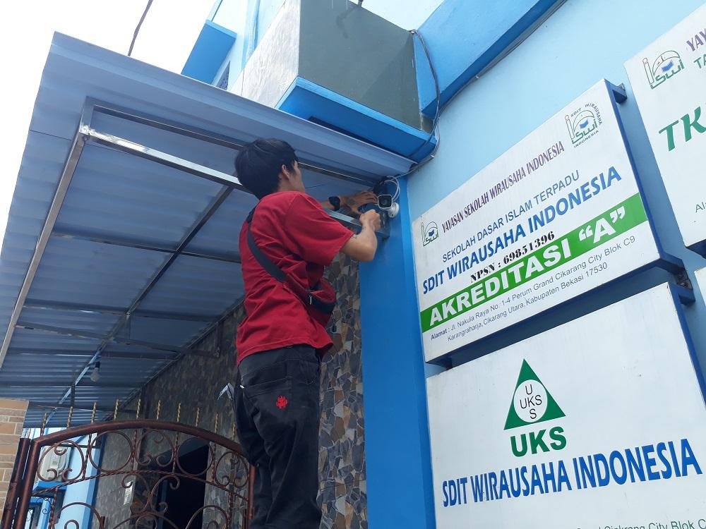 SDIT Wirausaha Indonesia Pasang CCTV