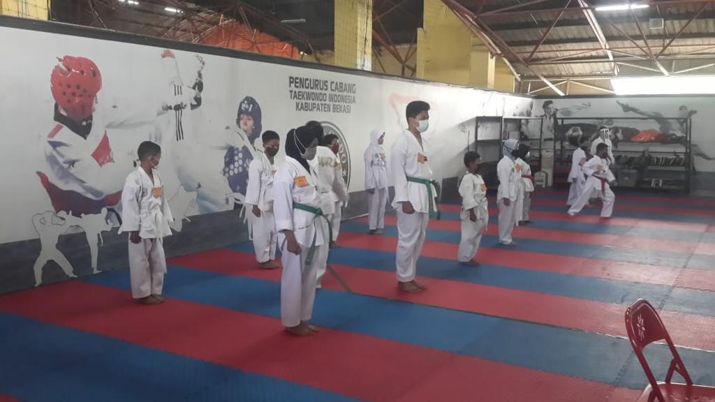 Ujian Kenaikan Tingkat Ekstrakurikuler Taekwondo Siswa SWI