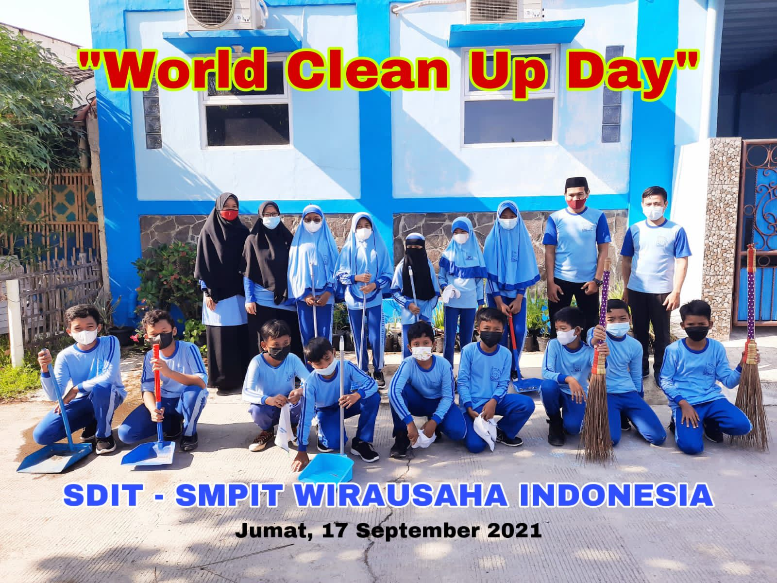 World Clean Up Day di SDIT-SMPIT Wirausaha Indonesia